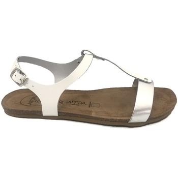 Zapatos Mujer Sandalias Amoa sandales SANARY Blanc/Argent Blanco
