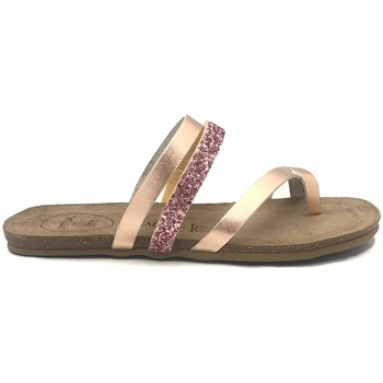 Zapatos Mujer Chanclas Amoa sandales LORGUES Rose/Glit Rosa