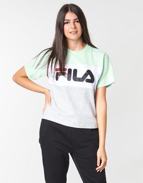 Corta Mujer AzulGris Allison Tee Manga Fila Camisetas Textil WIYD9EeH2