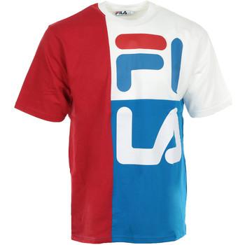 textil Hombre camisetas manga corta Fila Indo Colour Block Fit Tee Azul