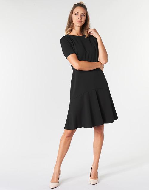 Textil Baba Cortos Mujer Lauren Ralph Vestidos Negro Ybf6g7y