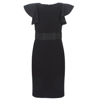textil Mujer vestidos cortos Lauren Ralph Lauren JERSEY SLEEVELESS COCKTAIL DRESS Negro