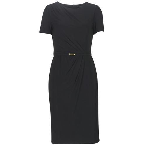 Lauren Ralph Lauren BELTED SHORT SLEEVE DRESS Negro - Envío gratis | ! - textil vestidos largos Mujer