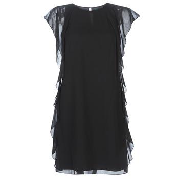 textil Mujer vestidos cortos Lauren Ralph Lauren RUFFLED GEORGETTE DRESS Negro