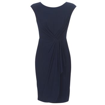 textil Mujer vestidos cortos Lauren Ralph Lauren RUCHED CAP SLEEVE DRESS Marino