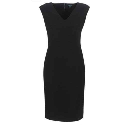 Lauren Ralph Lauren BLACK CAP SLEEVE DAY DRESS Negro - Envío gratis | ! - textil vestidos largos Mujer