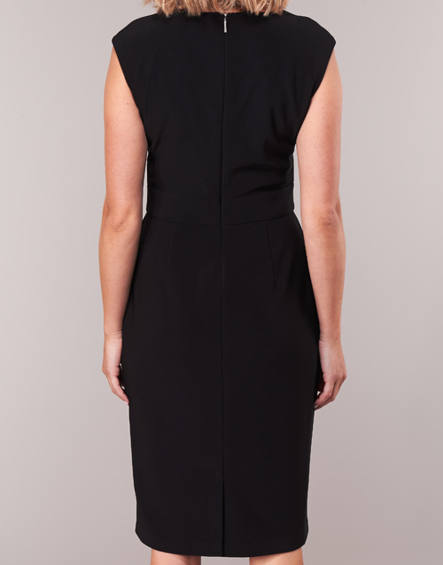 Largos Lauren Day Negro Dress Ralph Cap Textil Black Sleeve Vestidos Mujer cALq354jR
