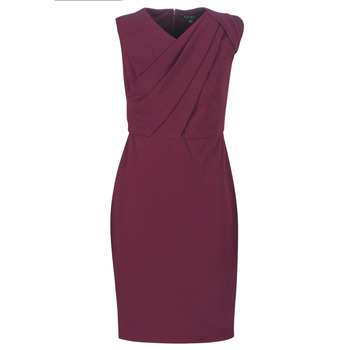 textil Mujer vestidos largos Lauren Ralph Lauren RUBY SLEEVELESS DAY DRESS Burdeo