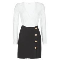 textil Mujer vestidos cortos Moony Mood LUCE Negro / Blanco