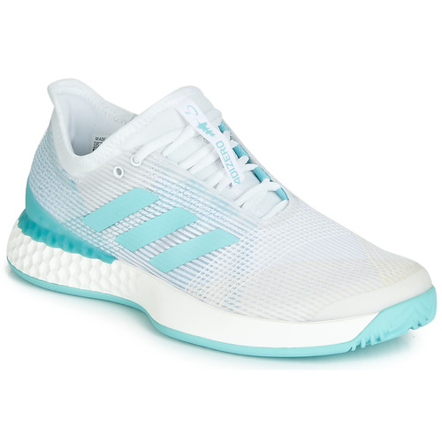 Zapatos Mujer Running / trail adidas Performance ADIZERO UBERSONIC 3M X PARLEY Blanco / Azul