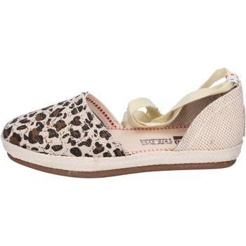Zapatos Mujer Alpargatas O-joo sandalias lona beige