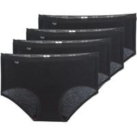 Ropa interior Mujer Culote y bragas Sloggi BASIC+ X 4 Negro