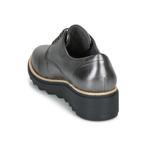 Plateado Noel Zapatos Derbie Sharon Clarks Mujer Ifv7b6yYg