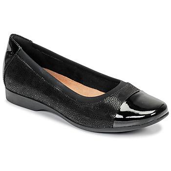 Zapatos Mujer Bailarinas-manoletinas Clarks UN DARCEY CAP Negro
