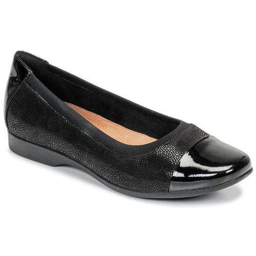 Clarks UN DARCEY CAP Negro - Envío gratis | ! - Zapatos Bailarinas Mujer