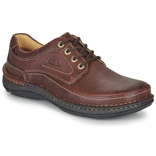 Zapatos Hombre Derbie Clarks NATURE THREE Marrón