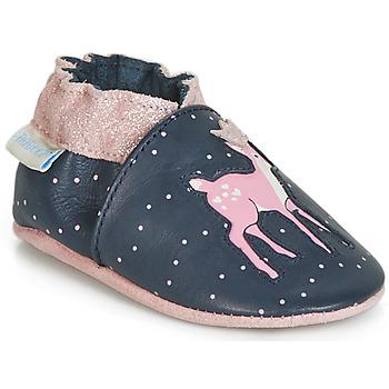 Zapatos Niña Pantuflas para bebé Robeez LITTLE FAWN Marino / Rosa
