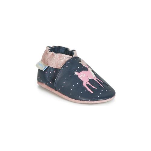 Robeez LITTLE FAWN Marino / Rosa - Envío gratis | ! - Zapatos Pantuflas para bebé Nino