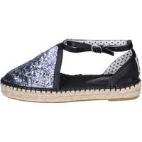 Zapatos Mujer Alpargatas O-joo sandalias glitter cuero sintético plata