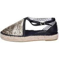 Zapatos Mujer Alpargatas O-joo sandalias glitter cuero sintético dorado