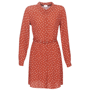 textil Mujer vestidos cortos Vila VISULOLA Rojo