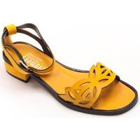 Zapatos Mujer Sandalias Plumers 3002 amarillo