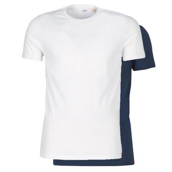 textil Hombre Camisetas manga corta Levi's SLIM 2PK CREWNECK 1 Marino / Blanco