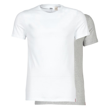 textil Hombre camisetas manga corta Levi's SLIM 2PK CREWNECK 1 Blanco / Gris