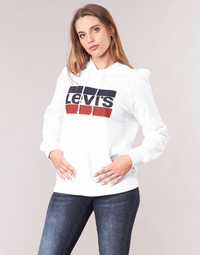 textil Mujer sudaderas Levi's GRAPHIC SPORT HOODIE Blanco