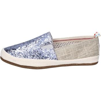 Zapatos Mujer Slip on O-joo slip on lona glitter plata