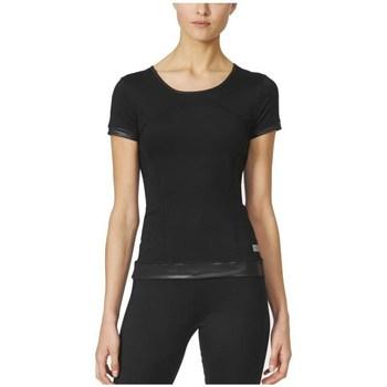 textil Mujer camisetas manga corta adidas Originals Stella Mccartney The Pref Tee Negro
