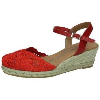 Zapatos Mujer Alpargatas Torres Zapatilla de encaje Rojo