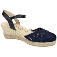 Zapatos Mujer Alpargatas Torres Zapatilla de encaje Azul