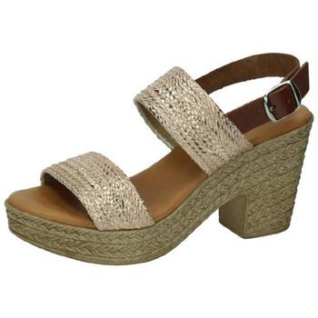 Zapatos Mujer Alpargatas Carmesí Sandalias cobre Marrón