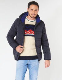 textil Hombre plumas Scotch & Soda CLASSIC HOODED PRIMALOFT JACKET Marino