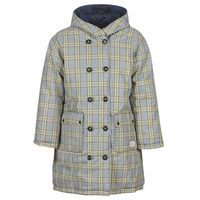 textil Mujer plumas Maison Scotch REVERSIBLE DOUBLE BREASTED JACKET IN CHECK AND SOLID Marino