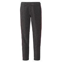textil Mujer pantalones con 5 bolsillos Maison Scotch TAPERED LUREX PANTS WITH VELVET SIDE PANEL Gris
