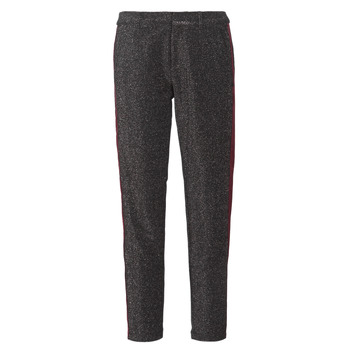 textil Mujer pantalones con 5 bolsillos Maison Scotch TAPERED LUREX PANTS WITH VELVET SIDE PANEL Gris