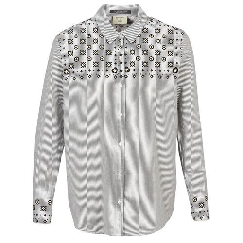 Shirt Button Print Mujer Gris Maison Up Scotch Textil With Camisas Bandana vYfmI6y7bg