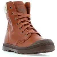 Zapatos Mujer Botas de caña baja Palladium Manufacture Pampa HI Knit LP Marrón