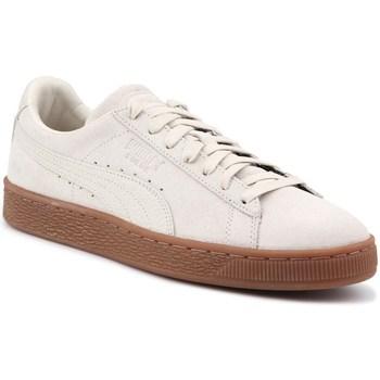Zapatos Hombre Zapatillas bajas Puma Suede Classic Natural Crema