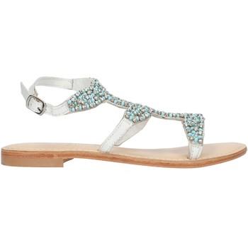 Zapatos Mujer Sandalias Cristin CATRIN9 Blanco y azul
