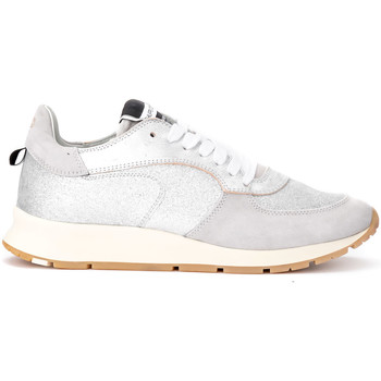 Zapatos Mujer Zapatillas bajas Philippe Model Zapatilla Montecarlo de piel y purpurina plata Plata