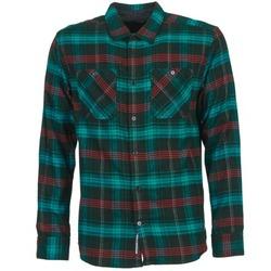 textil Hombre camisas manga larga DC Shoes VIBRATION Negro / Azul / Rojo