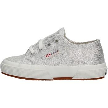 Zapatos Niña Zapatillas bajas Superga - Sneaker da Bambino Grigio in Pelle S002J20 2750 031