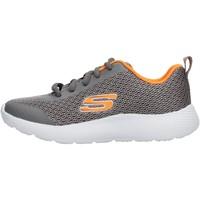 Zapatos Niño Zapatillas bajas Skechers - Speed fleet grigio/arancio 98121L CCOR GRIGIO