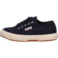 Zapatos Niño Zapatillas bajas Superga - Sneaker da Bambino Blu in Pelle S0003C0 2750 933