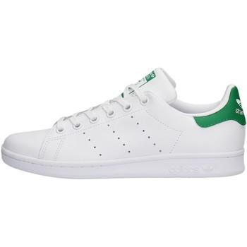 Zapatos Niño Zapatillas bajas adidas Originals - Stan smith j bianco M20605 BIANCO