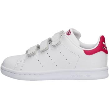 Zapatos Niña Zapatillas bajas adidas Originals - Stan smith cf c B32706 BIANCO