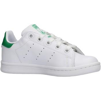 Zapatos Niño Zapatillas bajas adidas Originals - Stan smith c bianco BA8375 BIANCO